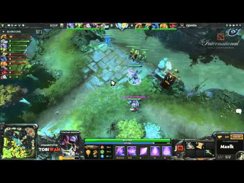 Qpanda vs iCCup Game 2  DOTA 2 International Western Qualifiers - TobiWan & Soe