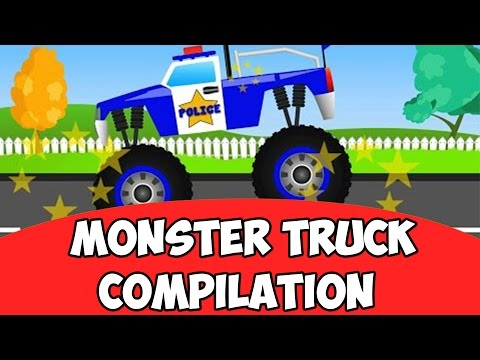 Monster Truck Compilation | KIDS VIDEOS | BABY VIDEO