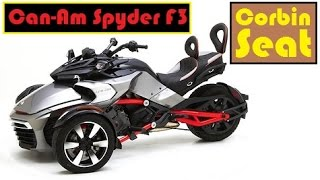 Can-Am Spyder F3 with Corbin Seat, more comfort, better cornering stability