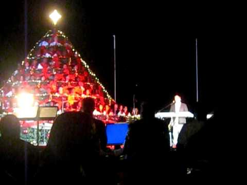 Dennis Wilson perfoming at The Singing Christmas Tree