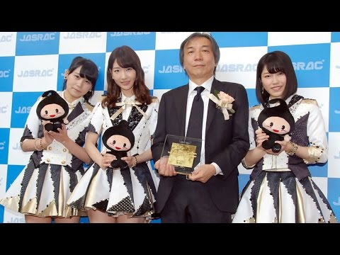 """AKB48楽曲「恋するフォーチュンクッキー」""""おにぎり""""はHKT48指原莉乃が命名 『2015年 JASRAC賞』贈呈式"""