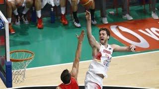video La selección española de baloncesto ha ganado este miércoles a Croacia (82-64) en la semifinal del torneo de preparación 'Ciutat de Badalona' y se medirá est...