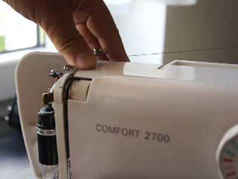 Как правильно заправить нитку в ЛЮБУЮ швейную машинку. Ремонт швейной машинки шаг  2