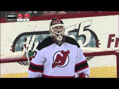Martin Brodeur Credited with a Goal 3/21/13 Devils @ Hurricanes