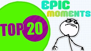 Agar.io TOP 20 Moments of the Month #2 (AGARIO BEST MOVES)