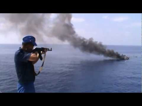 Russian Navy vs Somalia pirates