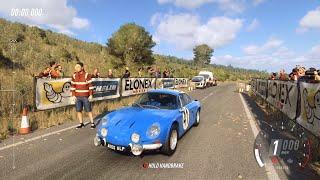 DiRT Rally 2.0 - 1969 Alpine A110 1600 S - Car Show Speed Jump Crash Test . 1440p 60fps.