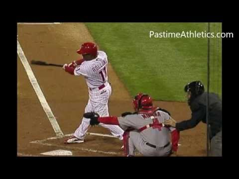Jimmy Rollins Hitting Slow Motion HAND PATH - 10000fps! Phillies Baseball MLB Video Clip