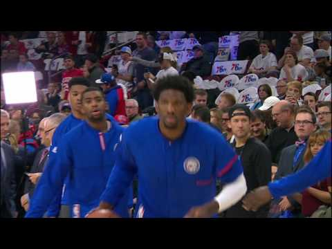 Joel Embiid's Pre-Game Dunk Show