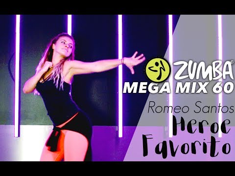 Zumba Megamix 60 - Heroe Favorito / Romeo Santos Cover / Easy Bachata