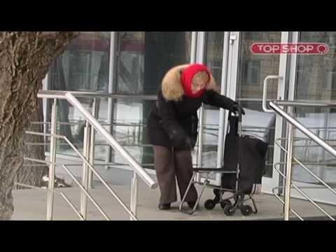 Хозяйственная Сумка-Тележка - Уникальная конструкция, ездит даже по ступеням!