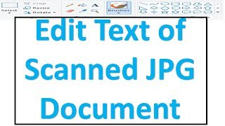 How to edit scanned Photos and documents without using any software | Ms Paint trick