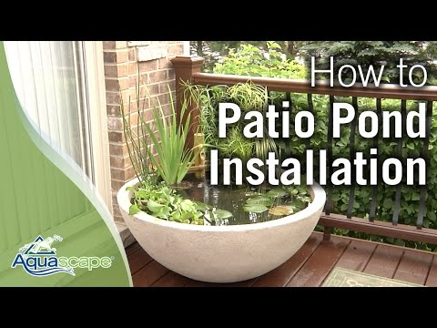 Aquascape's Patio Pond How To - 2012