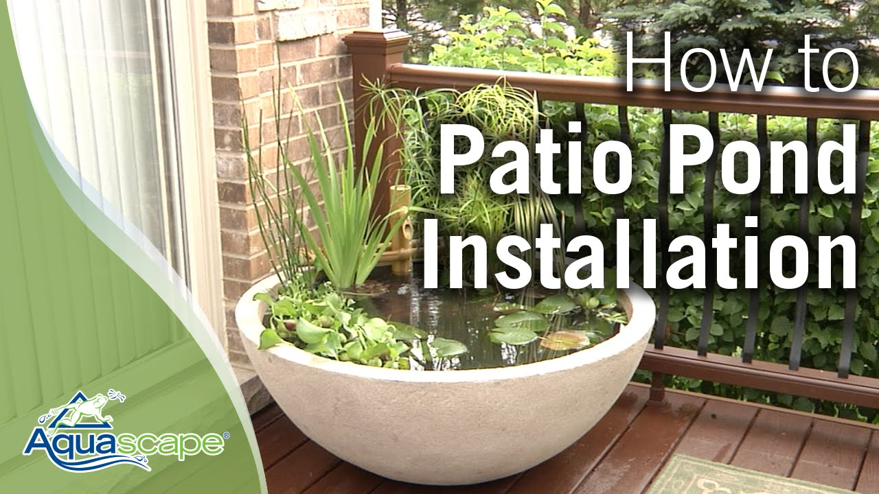 How to create an easy container water feature with for Diy patio pond