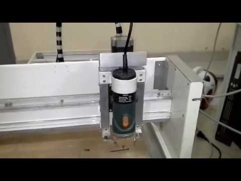 DIY CNC router axis testing 3