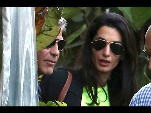George Clooney and Amal Alamuddin Celebrate Their Engagement