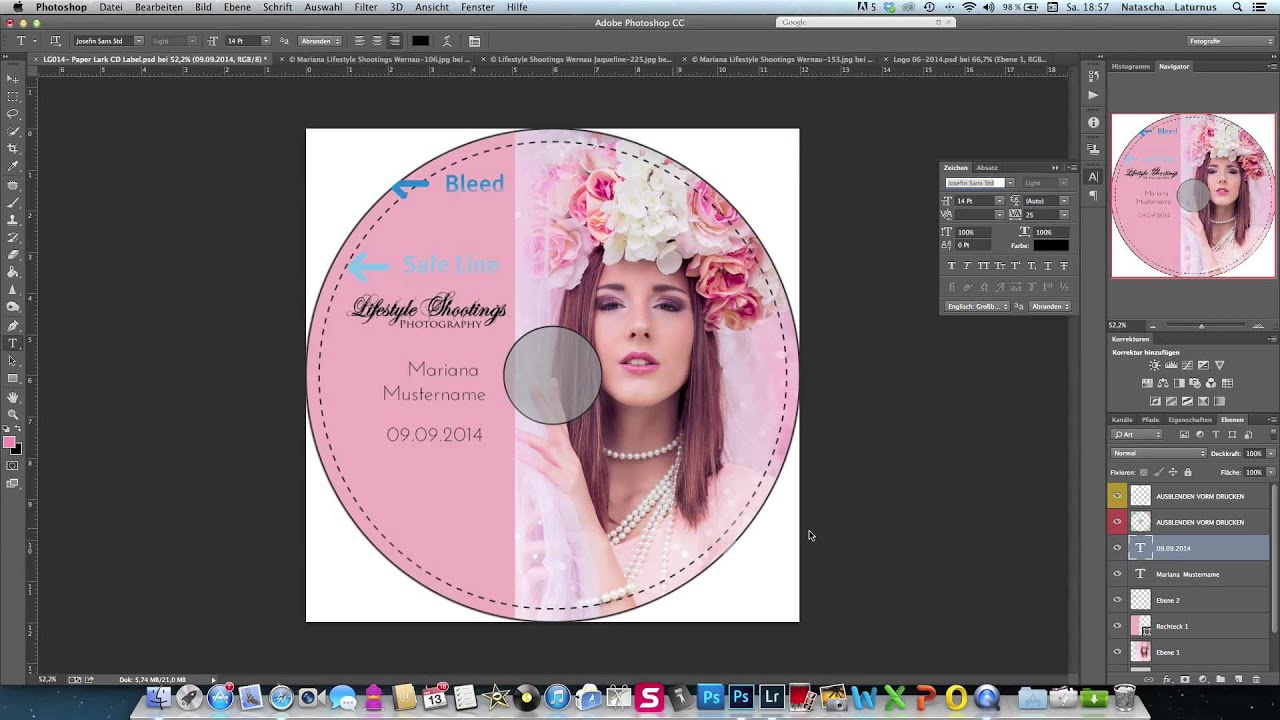 Как сделать рисунок на диск в фотошопе