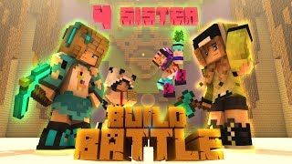 SERU NIH !! Kedatangan 4 Systers VS Lelaki Buaya BUILD BATTLE - Minecraft Animation