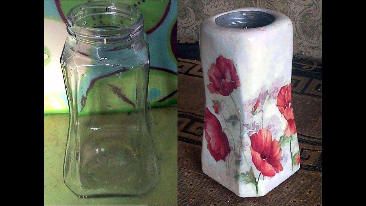 Идеи ваза своими руками из банки