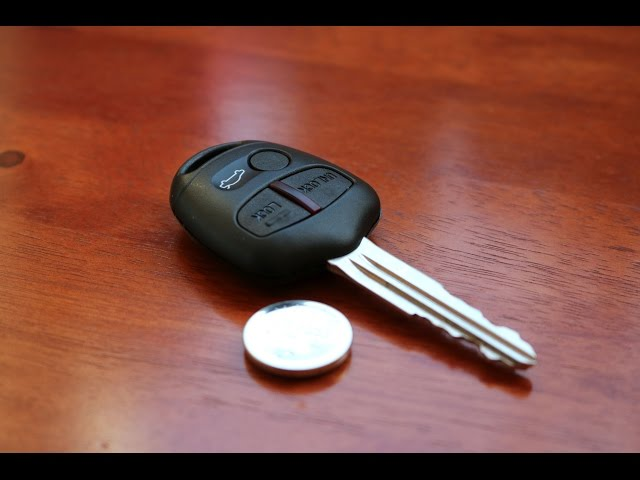 Mitsubishi Remote Key - Battery Replacement - YouTube