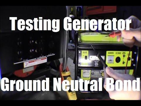 Ricks Diy Testing Portable Generator For Ground Neutral Bond  Bonding Check Test