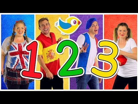 Counting to 10 Song in Four Languages! Kids Learn to Count 1 to 10. Numbers Song, Kids Songs