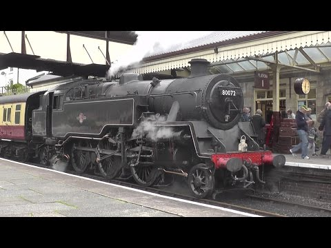 A ride behind BR Standard 4MT Tank 80072 at the Llangollen Railway - 26/08/2014