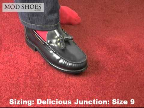 Mod shoes tassel loafers brogues loake delicious junction ikon sizing of the shoes