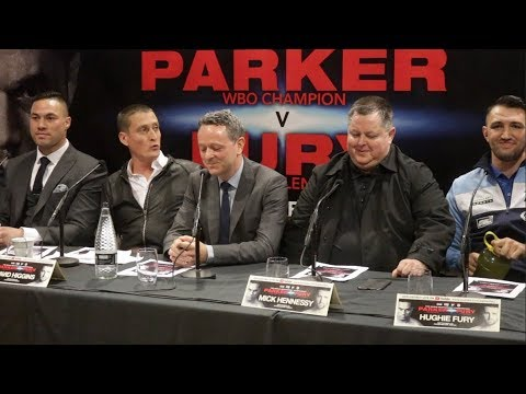 JOSEPH PARKER v HUGHIE FURY -OFFICIAL PRESS CONFERENCE W/ MICK HENNESSY , PETER FURY & DAVE HIGGINS