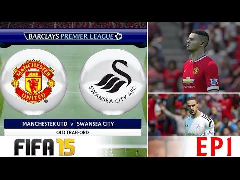 [TTB] FIFA 15 - Career Mode - Man United Vs Swansea City - Ep 1 - Debuts!