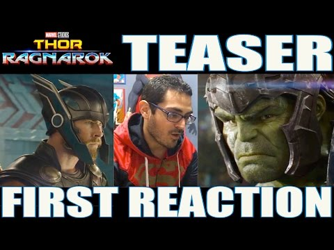 THOR RAGNAROK TEASER TRAILER FIRST REACTION ? ¡HULK ES LO MÁS!
