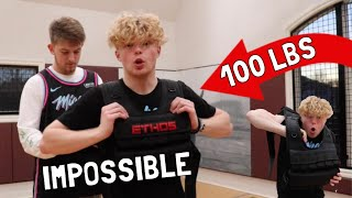 Crazy Layups With 100 LB Weight Vest! EPIC FAIL!