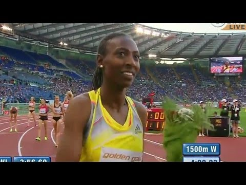 Simpson kicks from a long way out, Abeba Aregawi wins 3rd 1500m in Rome