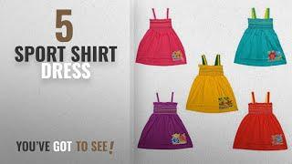Top 10 Sport Shirt Dress [2018]: Eazy Trendz Cute Crunchy Baby Frocks Set of 5