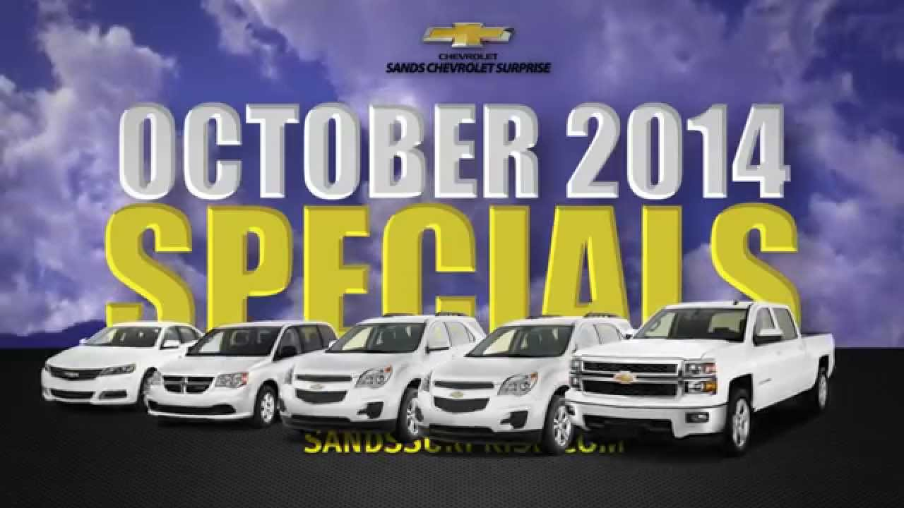 sands chevrolet surprise used car specials october 2014 youtube. Cars Review. Best American Auto & Cars Review
