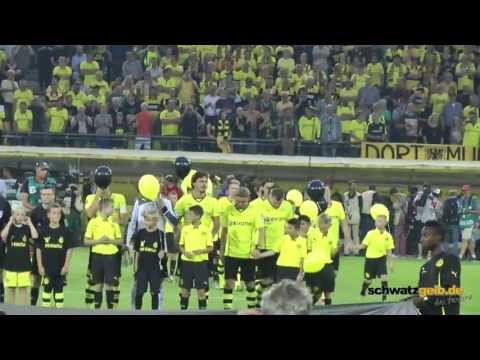 BVB - Werder Bremen 1-0 Stimmung Fans Borussia Dortmund 23.08.2013