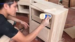 Cách làm tủ đầu giường ̣(cabinet in front of bed)