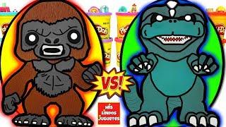 Huevos Sorpresa Gigantes de King Kong VS Godzilla de Plastilina Play Doh en Español