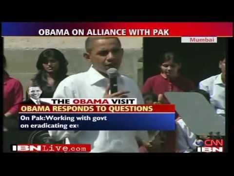 Indian Student Asks Obama,