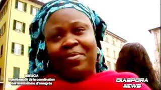 Brescia : manifestation des migrants en attente de régularisation