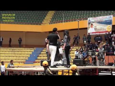 Movilización Estudiantil contra el consumo de Drogas de Oruro 2014