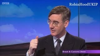 Jacob Rees Mogg says no to the customs union, leave it all!
