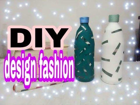 DIY design fashion em garrafa. #FÁCIL