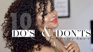 10 DO's and DON'TS for Curly Hair