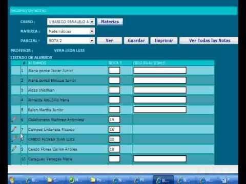 Ingreso de notas software basado en web for Memoria descriptiva de un colegio