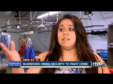 Businesses near 38th & Illinois hiring security to fight crime