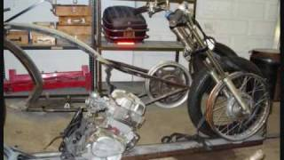 Honda Chopper Project Video #50 - FRAME JIG -SECOND MOCK-UP