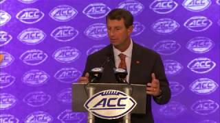 Clemson 2019 ACC Football Kickoff Press Conference