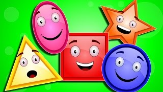 Five Little Shapes | Nursery Rhymes | Shape Song