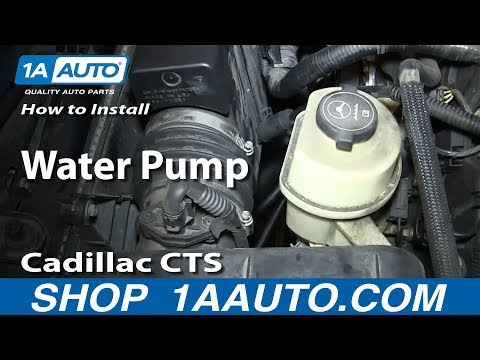 How To Install Replace Water Pump 2.8L 2003-10 Cadillac CTS